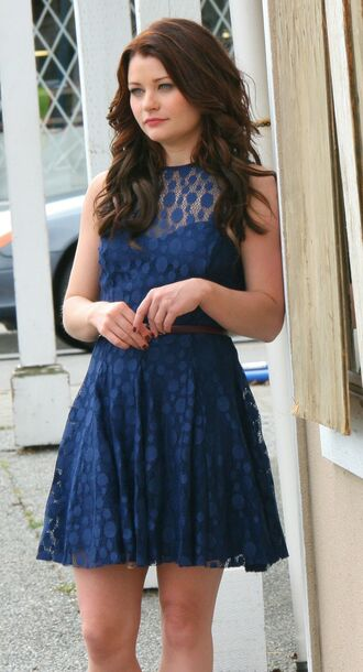dress blue lace dress belle once upon a time show blue dress