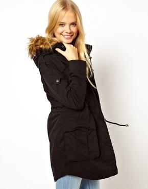 ASOS | ASOS Fur Hooded Detachable Lined Parka at ASOS