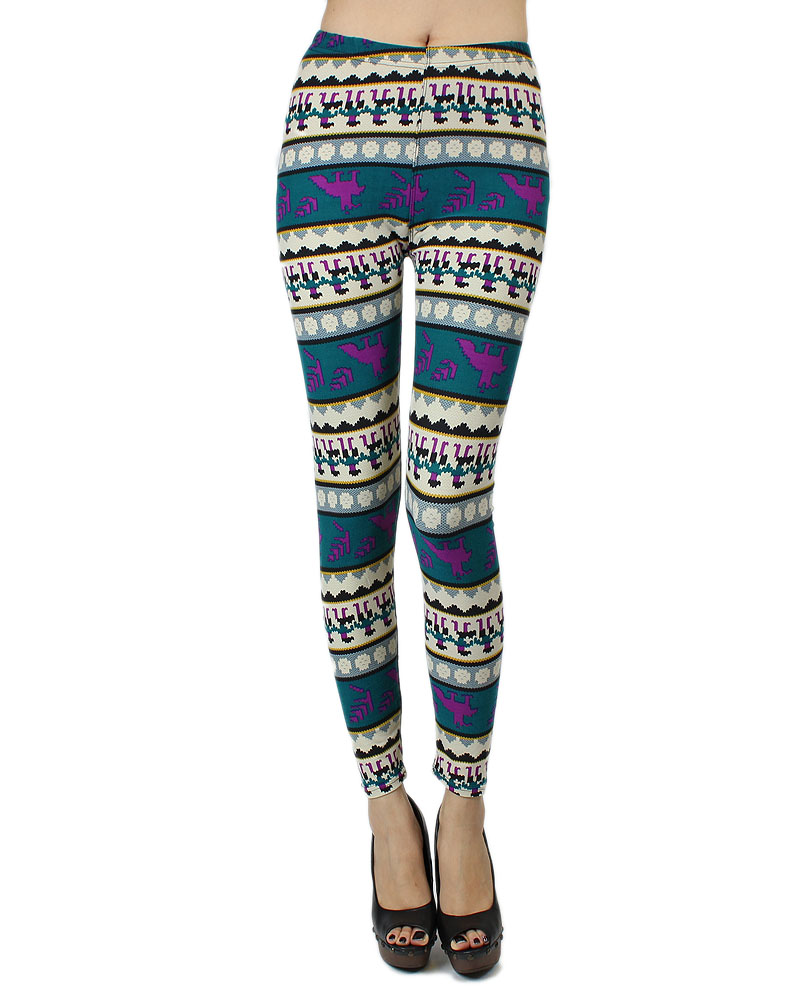 Iuile Fashion Womens Colorful Pattern Silk Feeling Knitted Leggings Tights Pants | eBay