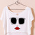 Funny Cartoon Print Short T-shirt in Beige [FCBI00457] - PersunMall.com