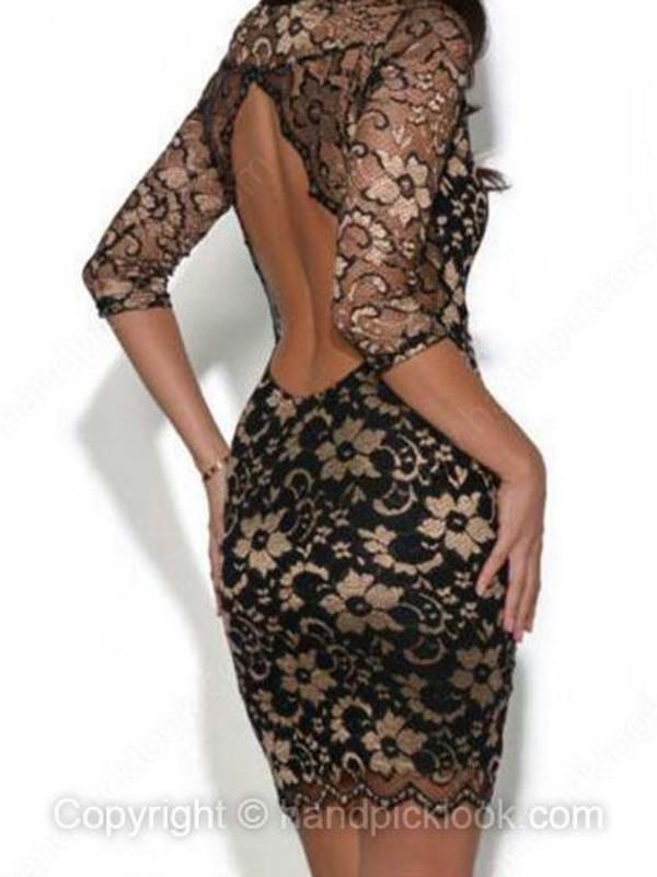 dress lace dress party dress sexy party dresses key hole back black lace dress bodycon dress club dress little black dress