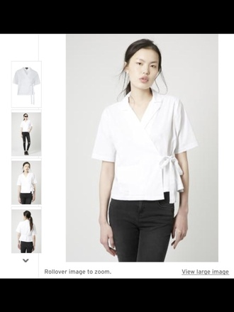 top white white top white crop tops bow summer top cute top crop tops draped japanese