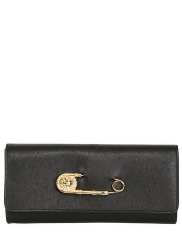 bag clutch versus safety pin leather