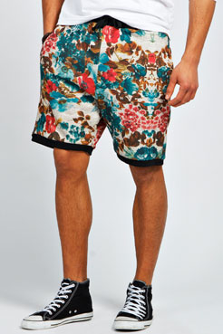 Floral Printed Shorts at boohoo.com