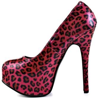 shoes pink animal print leopard print platform heels high heels