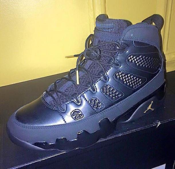shoes black on black 9s jordans air jordan