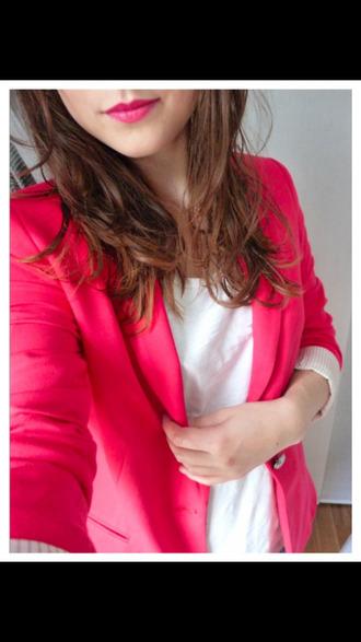 jacket strawberry short sleeved girly girl