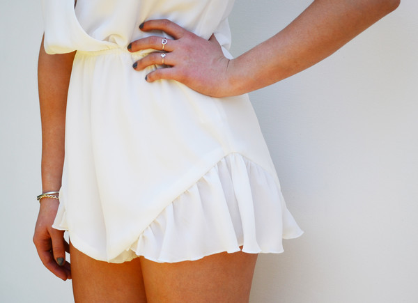 BROKEN HEARTS PLAYSUIT WHITE | ITEMS OF INTEREST