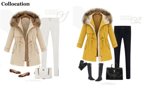 coat women fur woolen