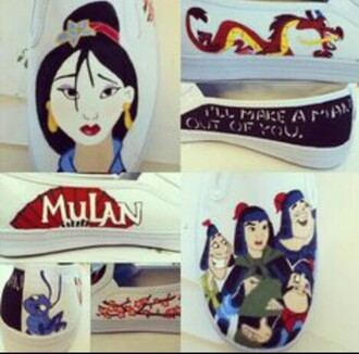 shoes toms mulan mushu painted toms ill make a man out of you