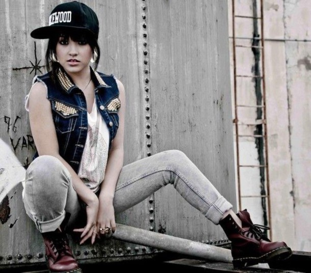 becky g cap grey jeans urban shoes jacket