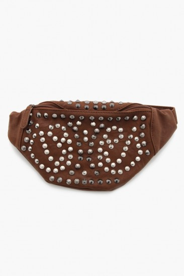 LoveMelrose.com From Harry & Molly | Studded Waist Bag - Brown