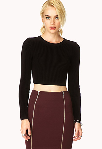 Classic Cropped Sweater   FOREVER21 - 2000110781