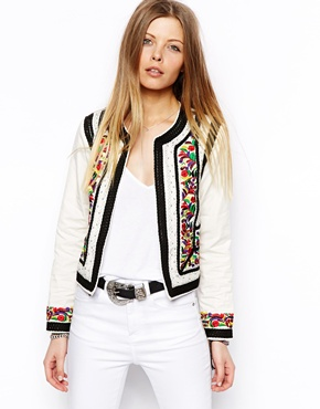 ASOS   ASOS Jacket With Statement Embroidery and Rope Detail at ASOS
