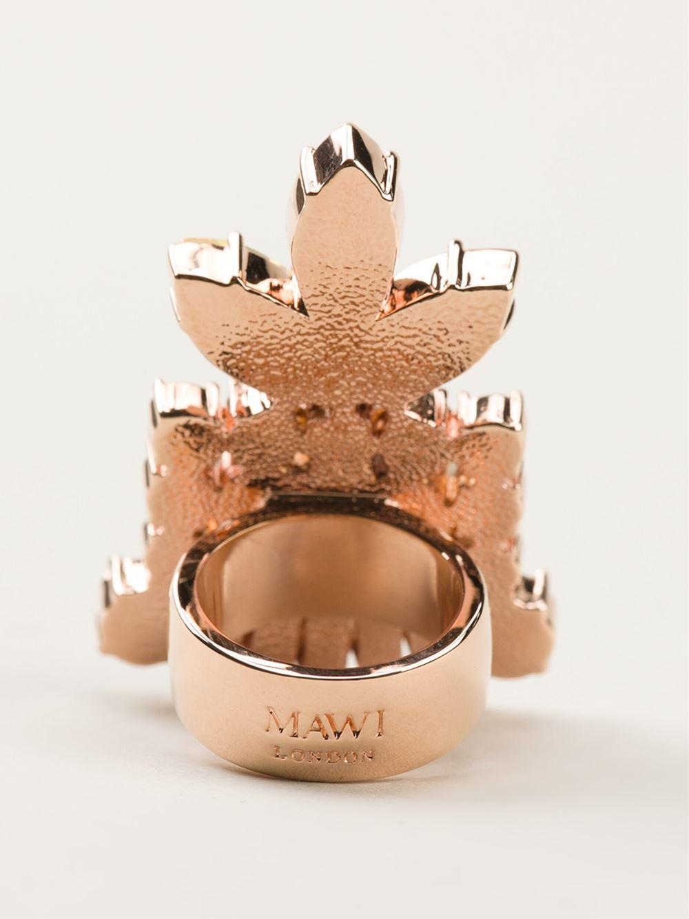 Mawi Embellished Chunky Ring - Nike - Via Verdi - Farfetch.com