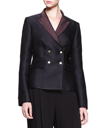 THE ROW Double-Breasted Bicolor Blazer