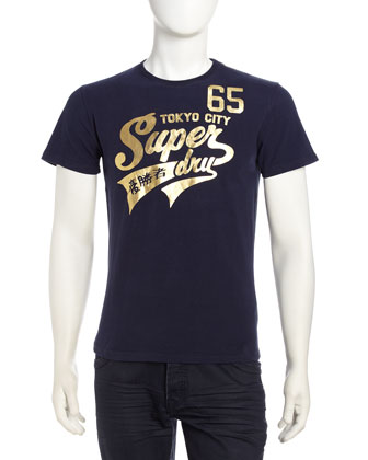 Superdry High-Number 65 Tee, Imperial Navy - Neiman Marcus Last Call