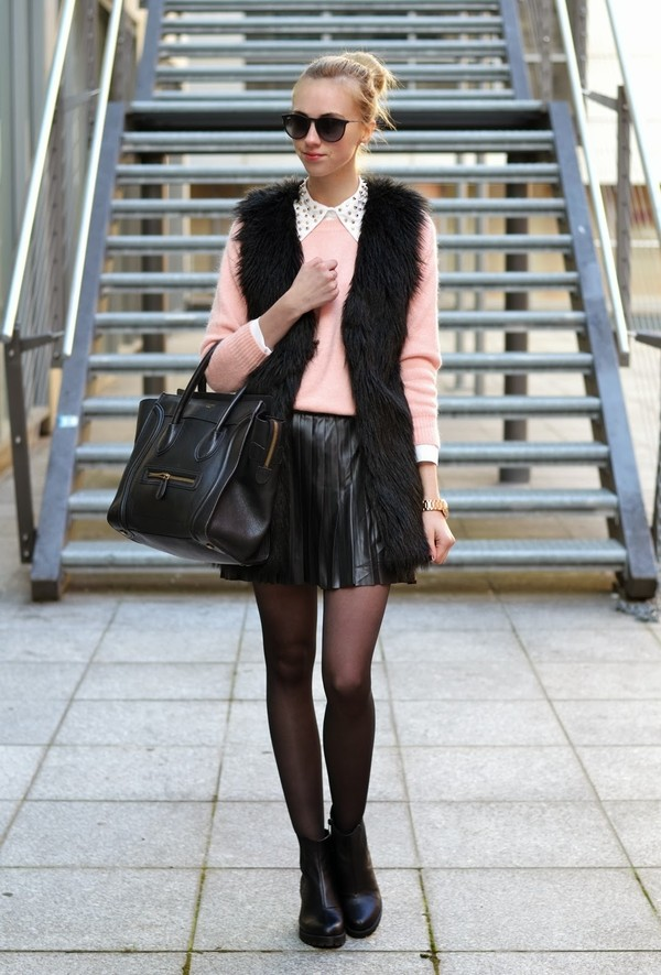 vogue haus sweater blouse skirt jacket shoes jewels sunglasses