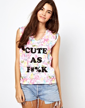 Minkpink | Minkpink Cute As Cara Floral T-Shirt at ASOS