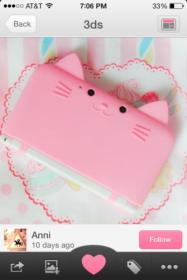 jewels 3ds game gaming pink kawaii phone cover tumblr nintendo