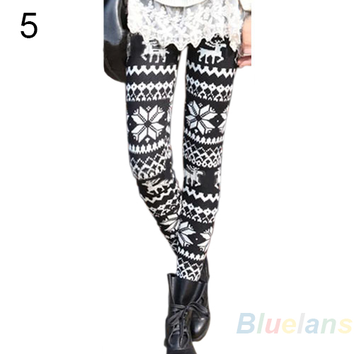 Durable Stylish Womens Colorful Pattern Retro Knitted Leggings Tights Pants BE4U | eBay