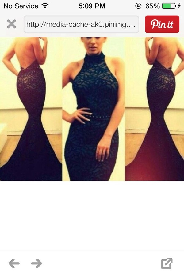 dress prom dress fishtail dress backless prom dress