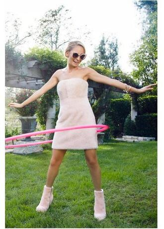 dress nicole richie ankle boots mini dress nude nude dress shoes editorial
