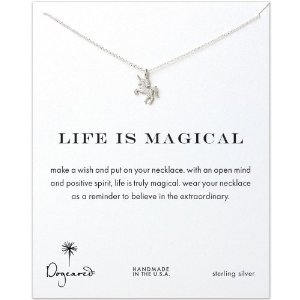 Amazon.com: Dogeared Life is Magical Unicorn Necklace, Sterling Silver: Jewelry