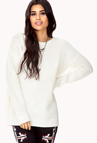 Bold Zipper Back Sweater   FOREVER21 - 2000075176