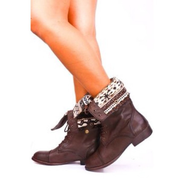 shoes brown boots lace up boots fold over boots winter outfits fall outfits lovely boots combat boots lace up fold over