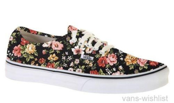 shoes vans floral printed vans
