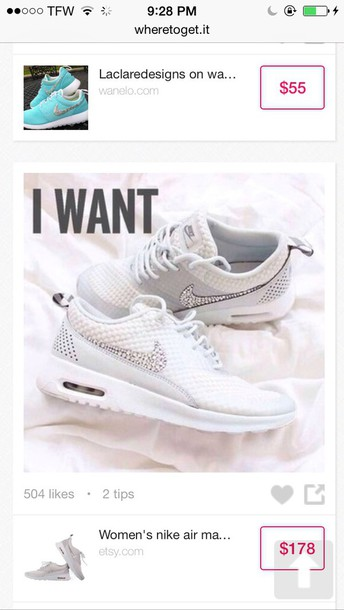 shoes whie nike shoes