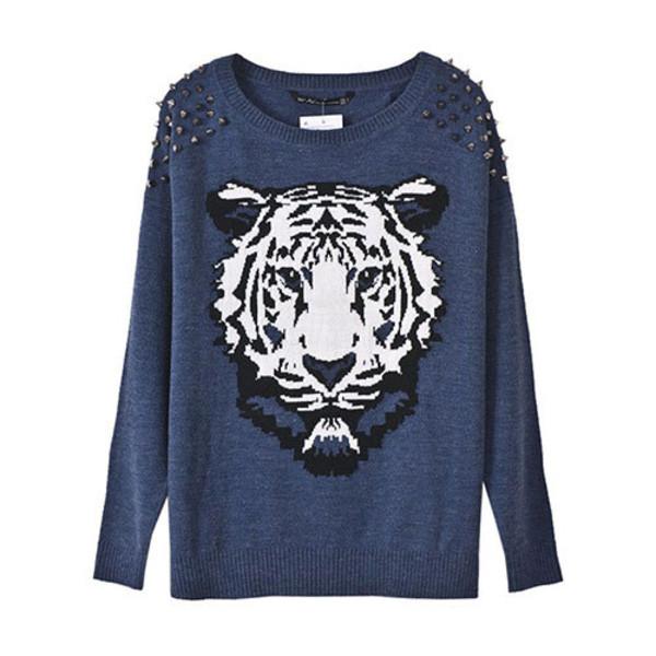 sweater tiger loose