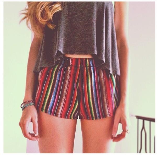 shorts brandy melville summer tumblr cute shirt multicolor