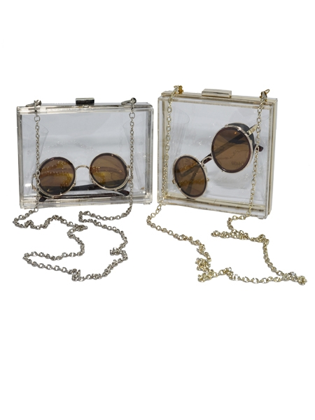 Oblong Shape Transparent Acrylic Hard Box Bag | Choies
