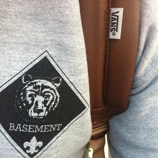 sweater basement band t-shirt vans backpack cute music tumblr clothes