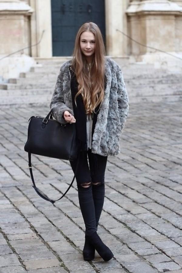 bag black jeans
