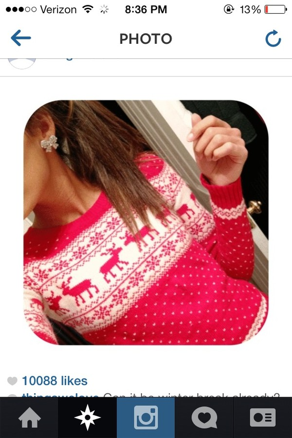 sweater pink christmas sweater dress blouse