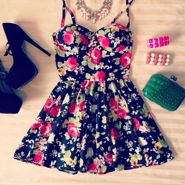 Valentine blossom bustier dress - Polyvore