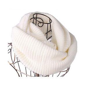 Women's Men Winter Warm Infinity 2 Circle Cable Knit Neck Long Scarf Shawl White   eBay