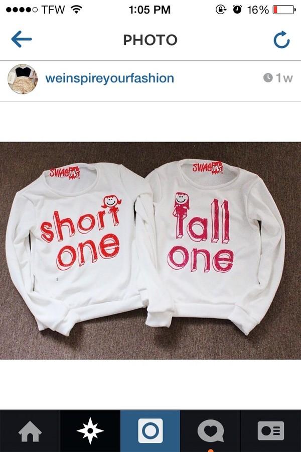 sweater white short tall