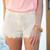 Floral Crochet Shorts - Apricot