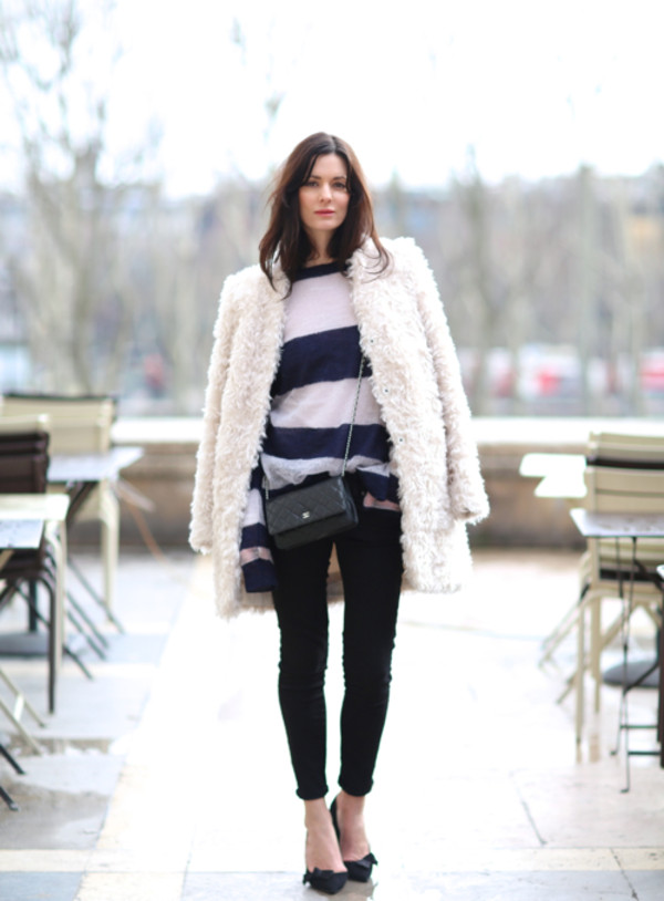 northern light jeans sweater coat bag shoes