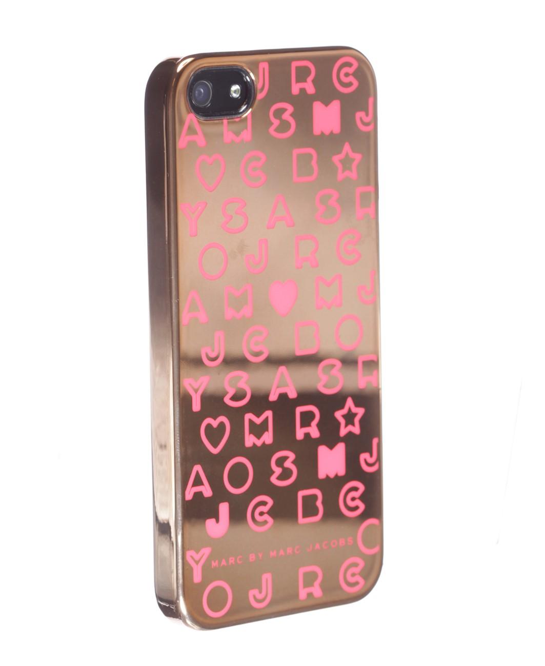 Marc Jacobs - Stardust Metallic iPhone 5 Case - Rose Gold Colour