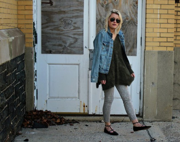 platinum and penniless blogger sweater jeans jacket