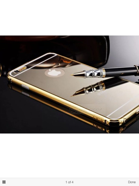 phone cover gold mirror phone 6 case
