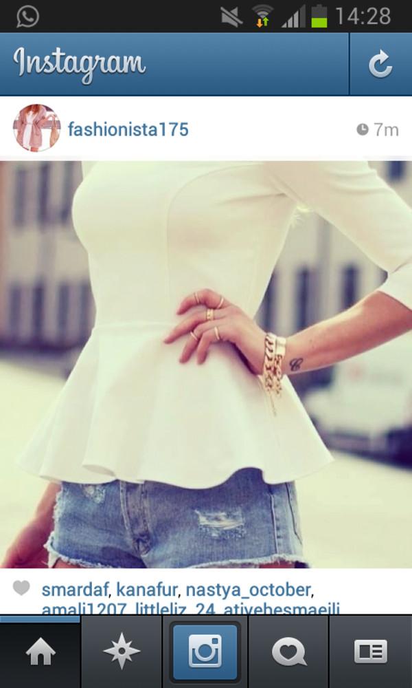 t-shirt instagram girly white