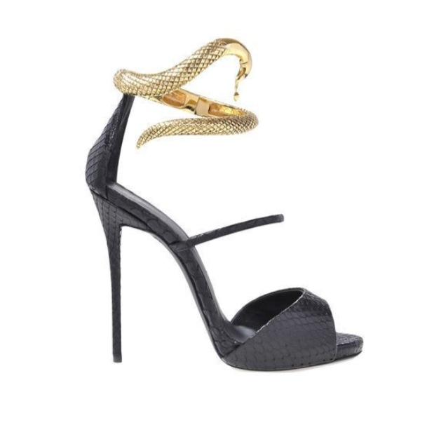 Snake Heels - Juicy Wardrobe