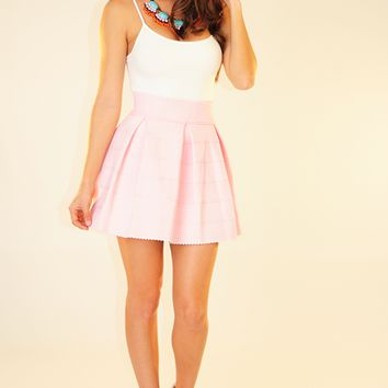 The Travel Time Skirt: Light Pink on Wanelo