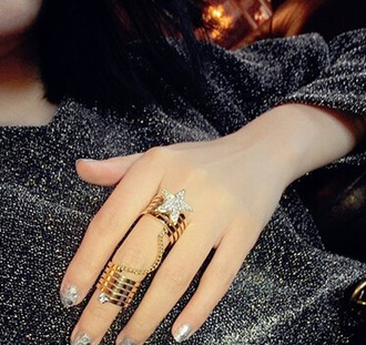 jewels knuckle ring double ring